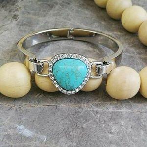 Lia Sophia Change It Up Turquoise Charm Bracelet